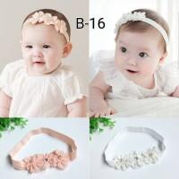 bando tri flower untuk bayi dan anak bandana headband