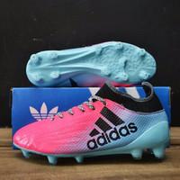 Sepatu Bola Adidas X 16. 3 Biru Muda - Pink Fanta.