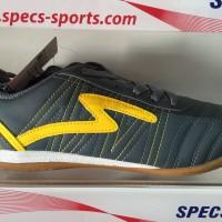 Sepatu futsal specs horus dark charcoal yellow 2015 original 100ale