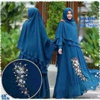 649_Sharini syari blue dan White