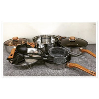 Oxone Basic Cookware Kitchen Set Alat Masak Panci 4+2 pcs OX-911 OX911