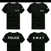 Tshirt/kaos/baju BIG SIZE XXXL-XXXXL SWAT POLICE/KAOS POLISI