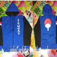 jaket anak naruto uchiha sasuke biru