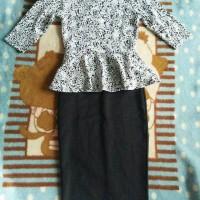 peplum maxy dress longdress baju muslim hitam elzatta husna