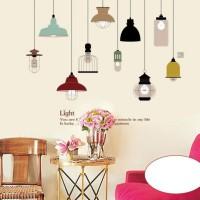 JM7306 Classic Lamp wallsticker wall sticker stiker dinding