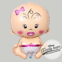 Balon foil baby girl jumbo / balon baby jumbo/ balon foil baby shower