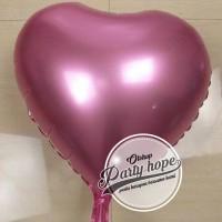 Balon Hati pink muda / Balon Love pink / balon foil hati pink muda
