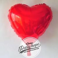 Balon Hati merah / Balon Love merah / balon foil hati merah