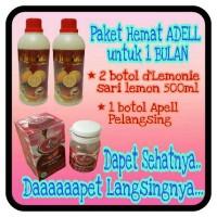 Paket HEMAT (1 Apell Pelangsing & 2 d'Lemonie Sari Lemon 500ml)