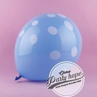 balon latex polkadot biru / balon polkadot biru / balon polkadot