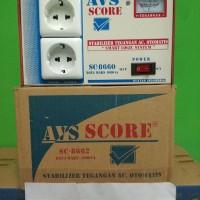 stabilizer tegangan ac otomatis AVS SCORE SC -8662 DAYA MAX 1000 VA