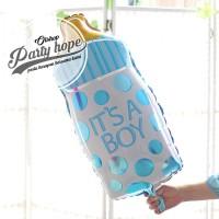 balon foil botol susu bayi boy / balon botol bayi jumbo 80 cm / baby