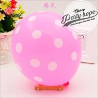 balon latex polkadot pink / balon polkadot pink / balon polka dot