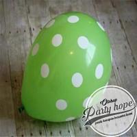 balon latex polkadot hijau / balon polkadot hijau / balon polka dot