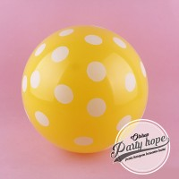 balon latex polkadot kuning / balon polkadot kuning / balon polkadot