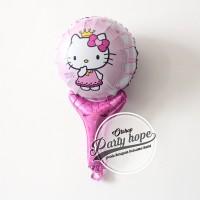Balon pentung hello kitty / balon hello kitty / balon stick / foil
