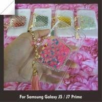 Case Water Glitter Air bag + Swarovski Samsung Galaxy J5 / J7 Prime