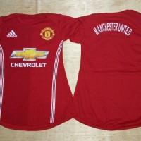 Baju Bola Anak Cewek / Baby dress bola Manchester United MU Home 16/