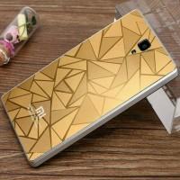 Xiaomi redmi note 1 3G 4G 3D rhombus alumunium back cover