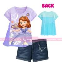 GW240-K - Baju / Kaos Setelan Anak - Sofia The First