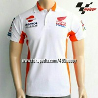 polo shirt repsol honda white teqm world motogp