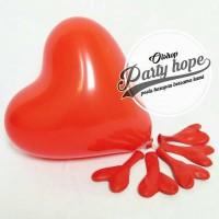 Balon Latex Hati Merah / Balon Latex Love Merah / Balon Latex Heart