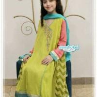 girlset sens f sari india sz 2-7thn-baju india anak perempuan