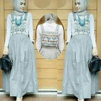 overall maxi skirt rok muslim baju busana batik jumpsuit jamsuit