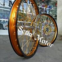 Velg TDR Sepaket Tromol Becak Jari Jari Cakram Motor Cb 150 All New CB