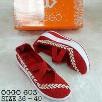 (NEW!) Sepatu Original Oggo 603 Women Rajut Anyaman