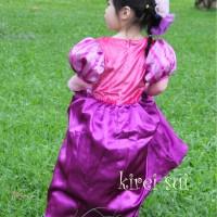 Pakaian Anak Murah baju dress kostum rapunzel princess ungu import / d