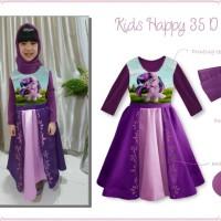 Baju Muslim / Gamis Anak: Kids Happy 35 D - Little Pony (1-5 Tahun)