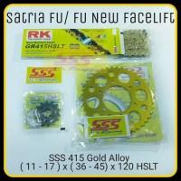 GIRSET SSS SUZUKI SATRIA FU/FU NEW FACELIFT/SSS GOLD 415 RK 120 HSLT