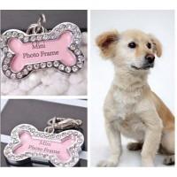 Bandul / liontin Bone untuk Kalung Anjing dan Kucing nama foto