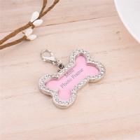 Bandul liontin kalung Nama untuk Kalung Anjing dan Kucing