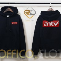 Jaket Hoodie Logo ANTV - Hitam