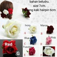Hair pin bunga bahan beludru hiasan rambut HPC03