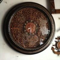 Jam Dinding Ukir Kaligrafi Diameter 70cm