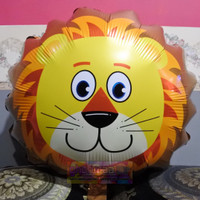 Balon Foil Karakter Kepala Hewan Singa size Besar / Animal Lion Jumbo