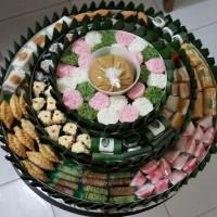 Paket Kue Tradisional - Jajan Pasar - Kue Tampah Bersusun - Aneka Kue