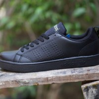 sepatu casual Adidas neo advantage full hitam cewek woman wanita 37-40