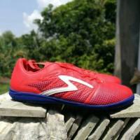 Sepatu Futsal Specs Apache In - Red Poppy/Naval Blue/White