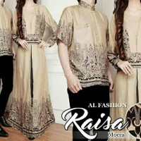 Couple Raisa Coklat Busana Muslim Pesta Undangan Baju Pasangan