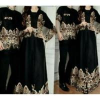 Couple Alicia Hitam Baju Pasangan Sarimbit Batik Pesta Undangan