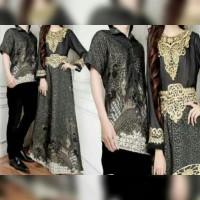 Couple Lestary Black Hitam Tosca Busana Muslim Pesta Undangan Baju