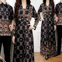 Couple Amelia Hitam Busana Muslim Pesta Undangan Baju Pasangan