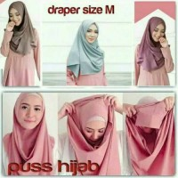 Hijab Phasmina pashmina Instant bahan Drapper Diamond Crepe