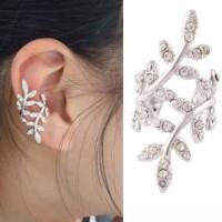 Ear clip double leaf | anting jepit | aksedoris import