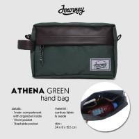 Tas Kecil Pouch Hand Bag Multifungsi Kosmetik HP- Journey Athena Green