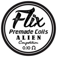 Alien for Competition premade coil / prebuild coil art